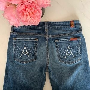 7 For All Mankind Jeans  A pocket Flare Jean